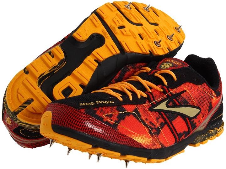 Brooks Mach 13 Spike (Slam/Zinnia/Black/Gold) - Footwear