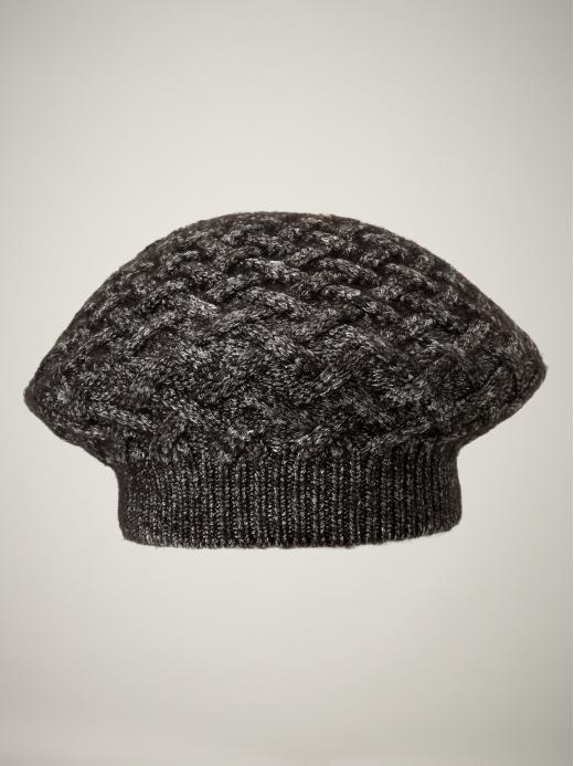 Metallic knit beret