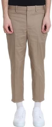 Beige Cotton Pants