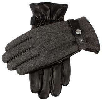 Dents Gloves Dents Guilford Wool Flannel Back Gloves in Charcoal/Black