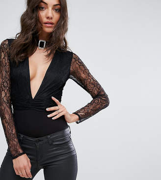 Asos Tall TALL EXCLUSIVE Lace Body With Embellished Choker Trim