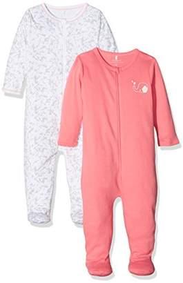 Name It Baby Girls' Nbfnightsuit Zip W/f Noos Sleepsuit,Pack of 2