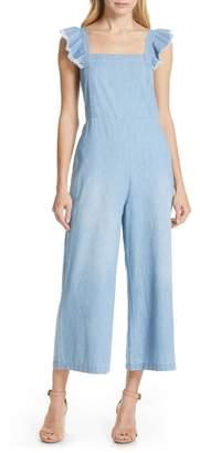 Dolan Minnie Flutter Sleeve Chambray Jumpsuit