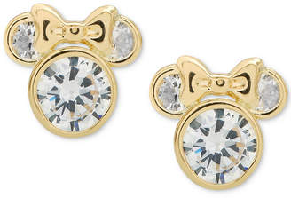 Disney (ディズニー) - Disney Children's Cubic Zirconia Minnie Mouse Stud Earrings in 14k Gold