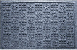 Bungalow Flooring Aqua Shield Dog Paw Squares Doormat Bluestone