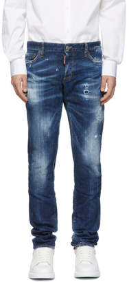 DSQUARED2 Blue Medium Easy Wash Slim Jeans