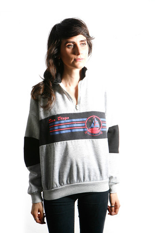 Zia Vintage San Diego Henley Sweatshirt