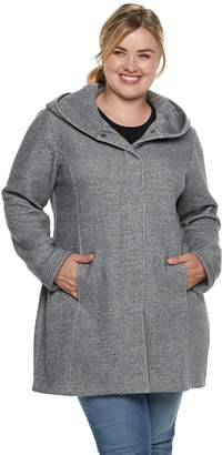 ce6db5567a7 Plus Size Sebby Collection Hooded Fleece Jacket