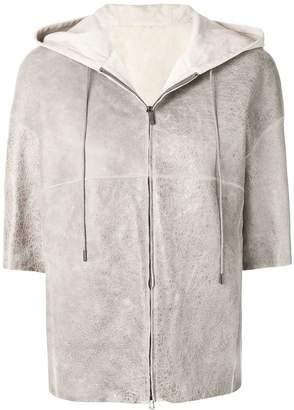 Fabiana Filippi short sleeve hooded jacket