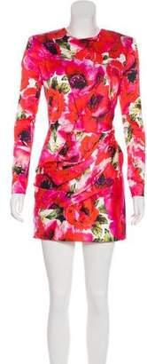 Balmain Floral Structured Dress