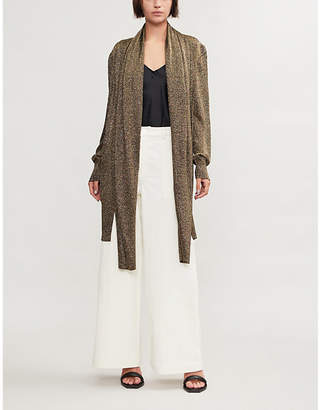 Missoni Shawl-lapels metallic-knit cardigan
