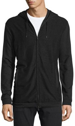 John Varvatos Star USA Stretch-Knit Zip Hoodie, Black $198 thestylecure.com
