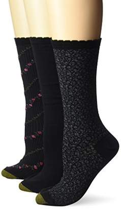 Gold Toe Women's Plus-Size 3 Pair Pack Crew Socks