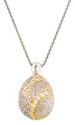Michael Bondanza Diamond Egg Pendant Necklace