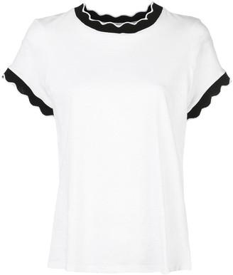 Cinq à Sept scalloped Eve T-shirt