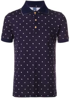 fe-fe swan print polo shirt