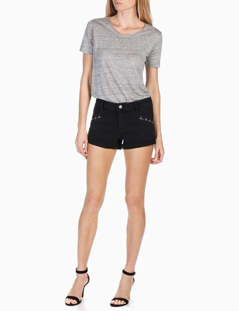Rosie HW x PAIGE Collection Anja Short - Onyx Embellished