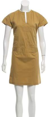 Derek Lam Mini Short Sleeve Dress brown Mini Short Sleeve Dress
