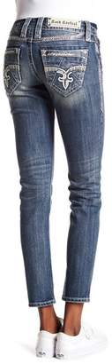 Rock Revival Faded Bejeweled Skinny Jeans