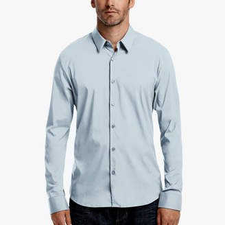 James Perse MATTE STRETCH POPLIN DRESS SHIRT