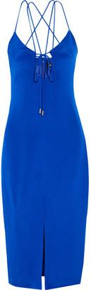 Cushnie et Ochs - Courtney Cutout Silk-crepe Dress - Royal blue $1,495 thestylecure.com