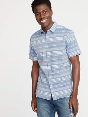 Old Navy Slim-Fit Textured Dobby-Stripe Shirt for Men