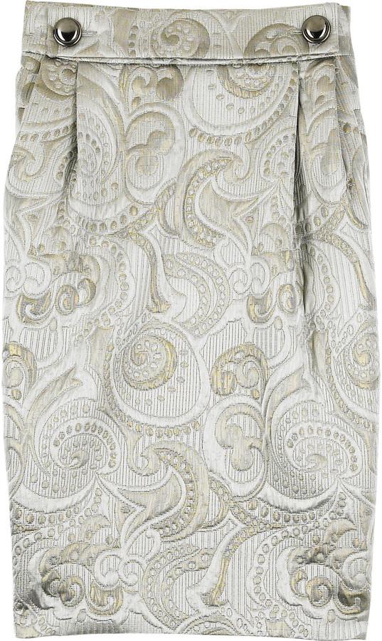 Paul & Joe Auplus metallic jacquard skirt