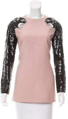 Valentino Panther-Embellished Shift Dress