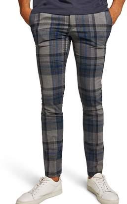 Topman Ultra Skinny Fit Check Pants