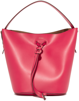 Furla Vittoria Small Drawstring Bag $348 thestylecure.com