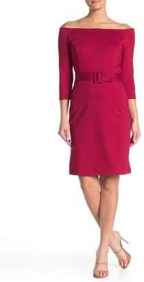 Vanity Room Off-the-Shoulder Belted Dress