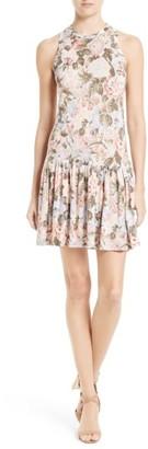 Women's Rebecca Taylor Penelope Floral A-Line Dress $295 thestylecure.com