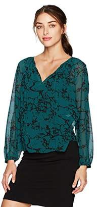 Lucky Brand Women's Marble Printed Blouse