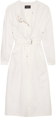 Ivo Linen Trench Coat - White
