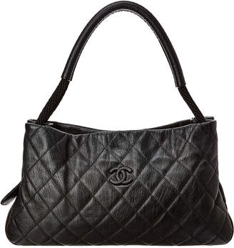 2035638be0ea Chanel Black Quilted Soft Caviar Leather Shoulder Bag