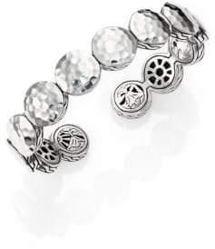 John Hardy Palu Sterling Silver Disc Flex Cuff Bracelet