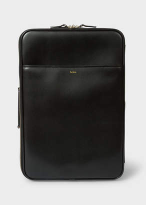 Paul Smith Black 'City Embossed' Leather Suitcase