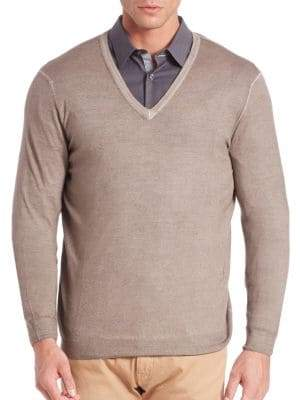 Pal Zileri V-Neck Wool Sweater