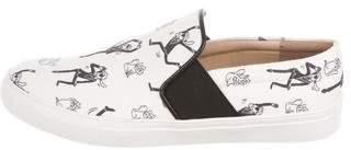 Karl Lagerfeld Canvas Slip-On Sneakers
