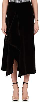 Zero Maria Cornejo Women's Asymmetric Stretch-Cotton Velvet Skirt