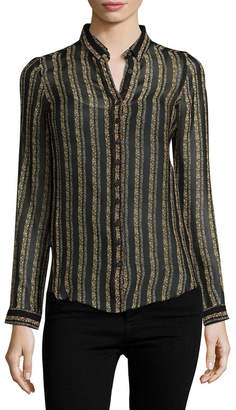 MiH Jeans Evelyn Lace Print Shirt