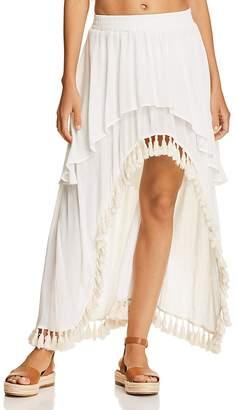 Surf Gypsy Tassel High/Low Skirt Swim Cover-Up