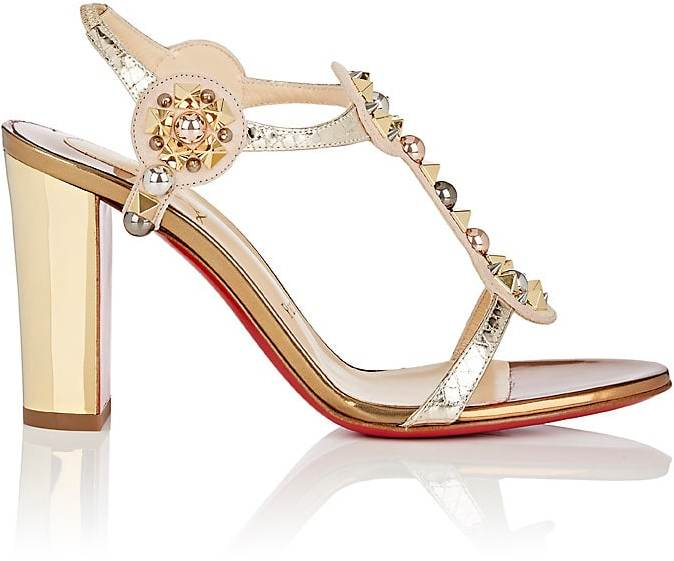 Christian Louboutin Women's Kaleitop Suede & Leather T-Strap Sandals