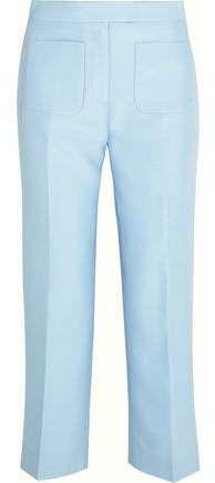 J.crew Gretch Cropped Wool And Silk-Blend Twill Straight-Leg Pants