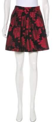 Alice + Olivia Floral Patterned Mini Skirt