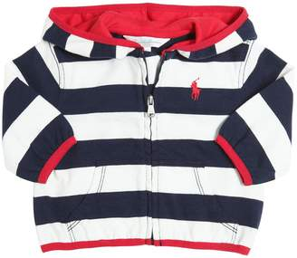 Ralph Lauren Striped Hooded Light Cotton Sweatshirt