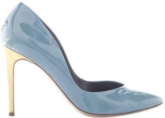Rupert Sanderson Blue Patent leather Heels