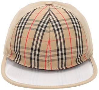 Burberry Check & Clear Baseball Hat