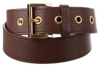Prada Pebbled Leather Belt