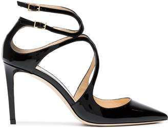 Jimmy Choo Black Lancer 85 Patent Leather Pumps